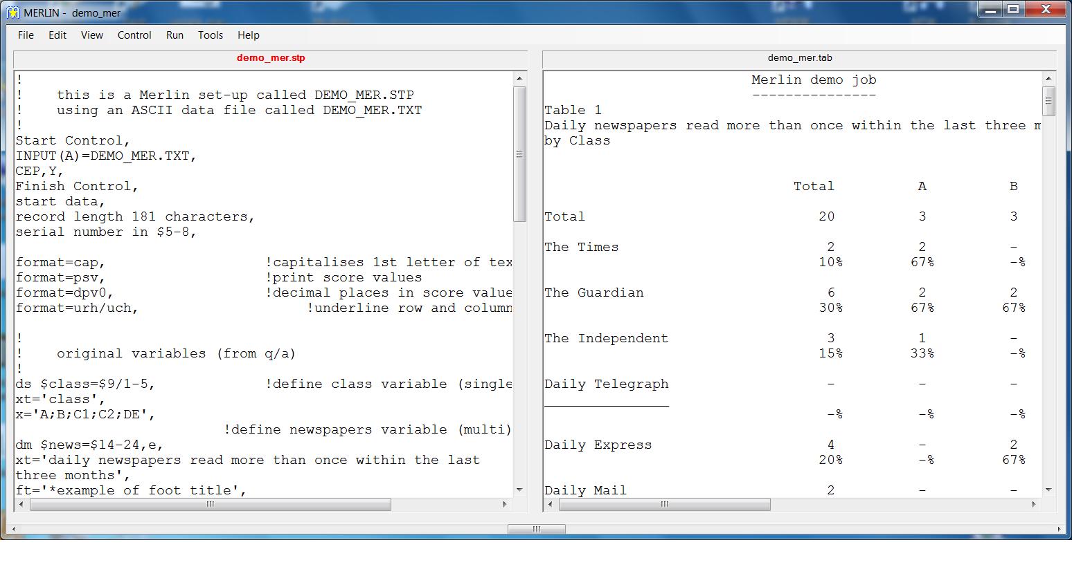 Merlin Screenshot