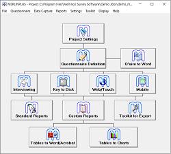 MERLINPLUS startup screen